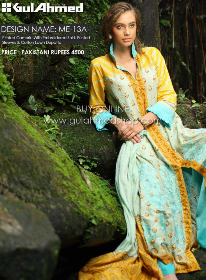 gul ahmed mid summer cambric collection 2012 2013 eid prints