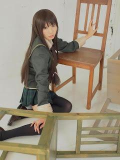 Rinami cosplay as Mikazuki Yozora from Boku wa Tomodachi ga Sukunai