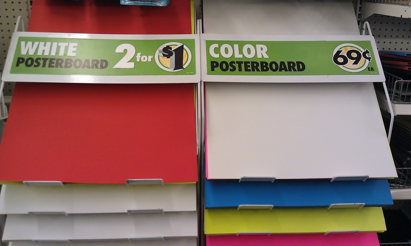 Poster board dollar tree