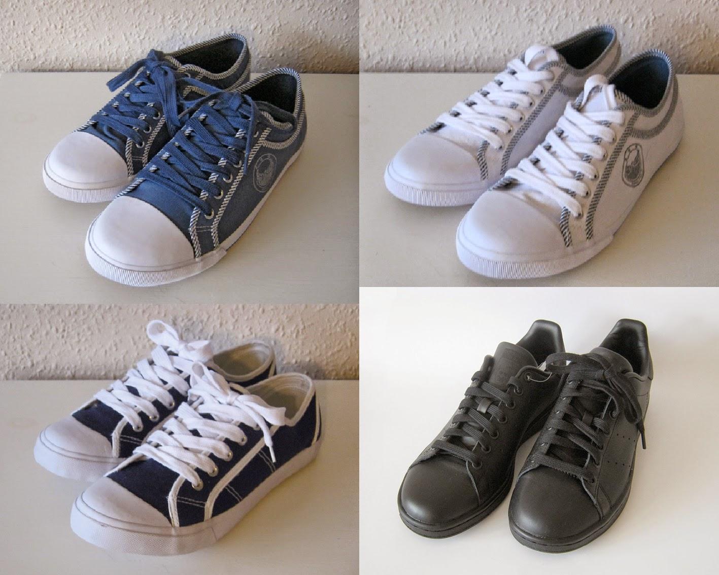 Nye ukurante sko sælges        - stor venstre, mindre højre