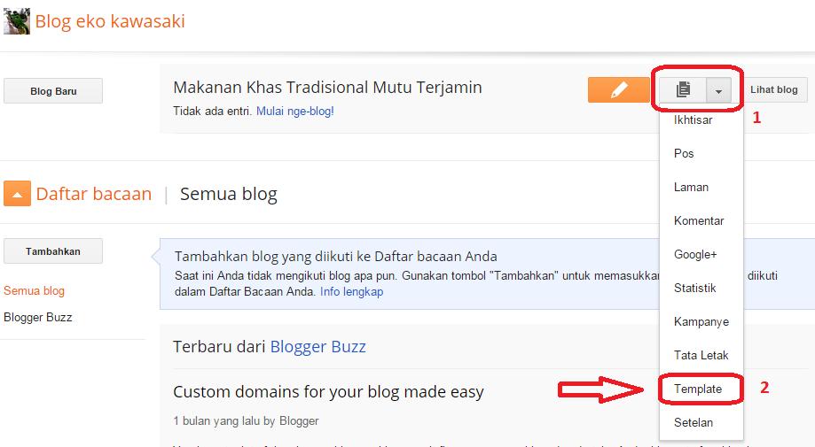Cara Mudah Ganti Template Blog Di Blogspot