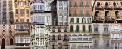 Texturas arquitectónicas tradicionales en el Centro Histórico de Málaga