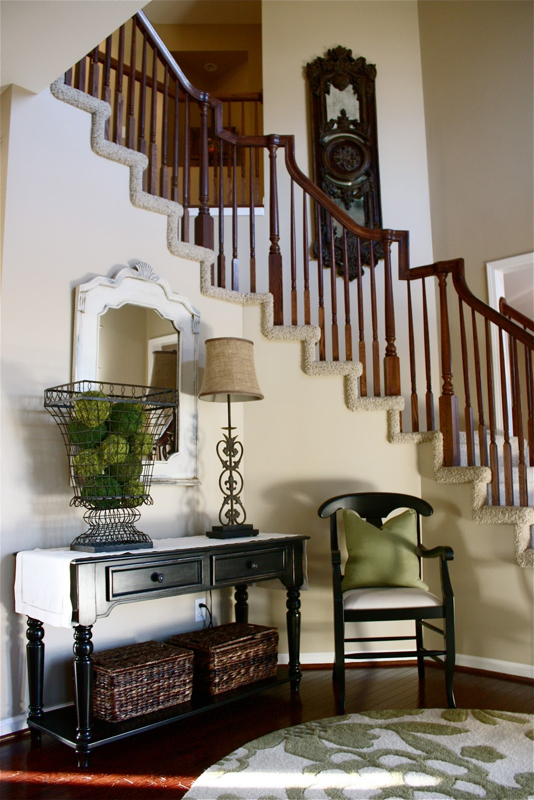 Yellow Foyer Ideas : The yellow cape cod room makeovers
