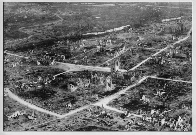 Ypres devastated, First World War, In Flanders Fields