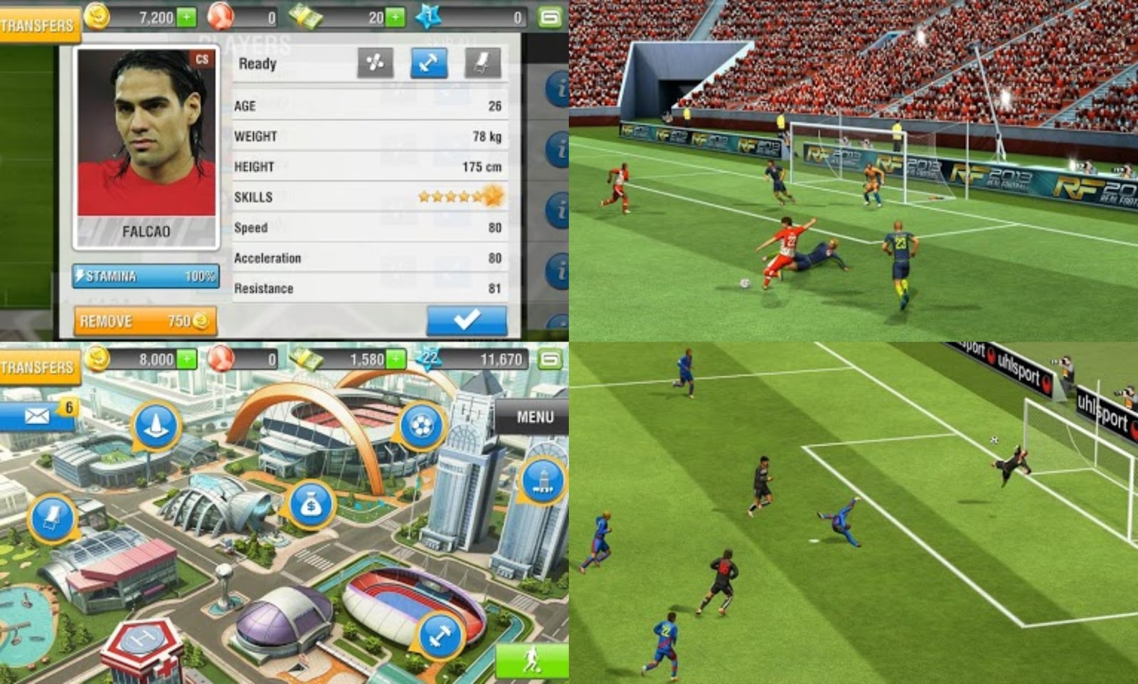 RF (Real Football) 2013 v1.0.3 Apk + SD Data | Android Games Download