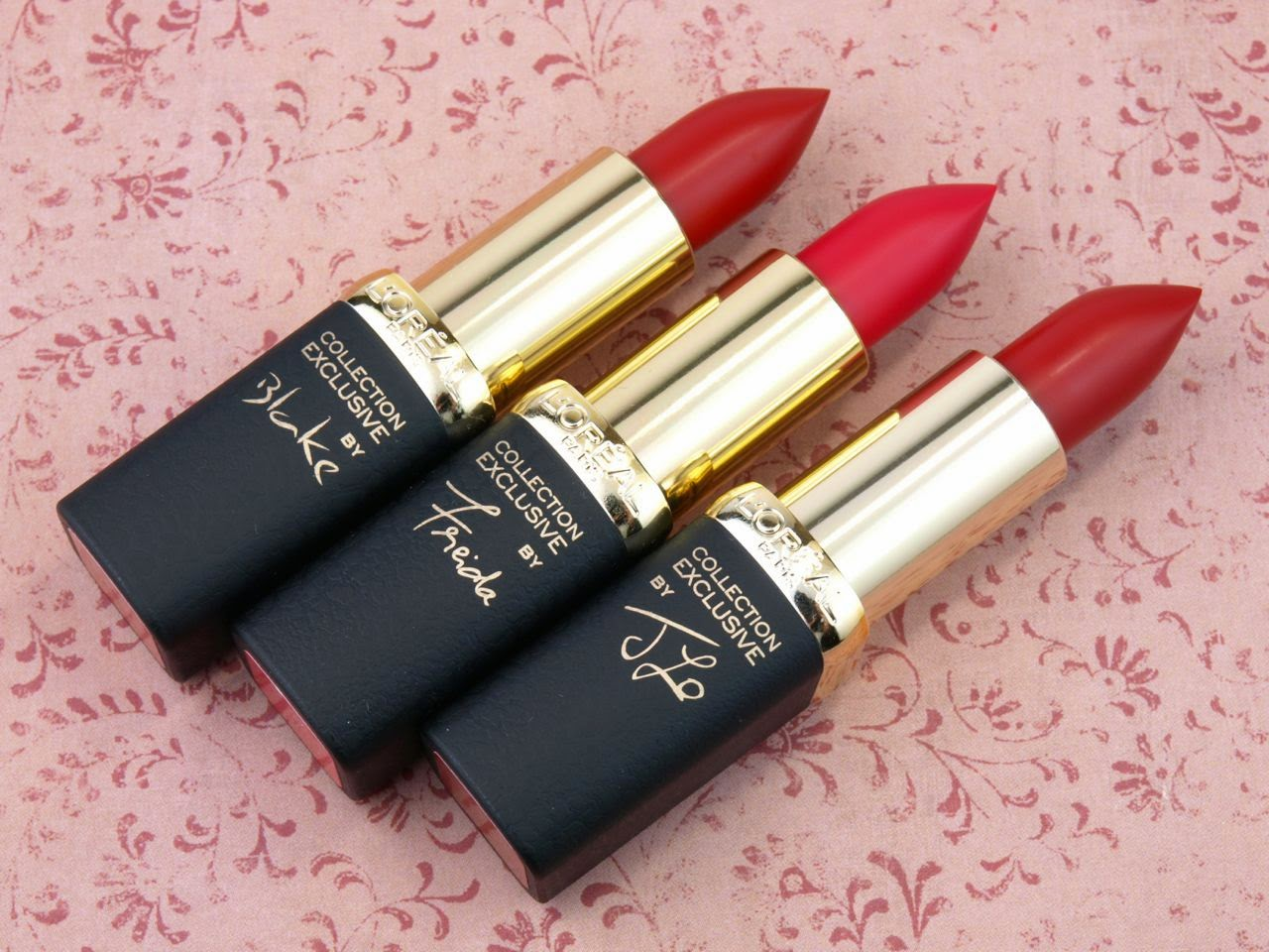 L'Oreal Collection Exclusive Pure Reds by Color Riche Lipsticks: Review and Swatches