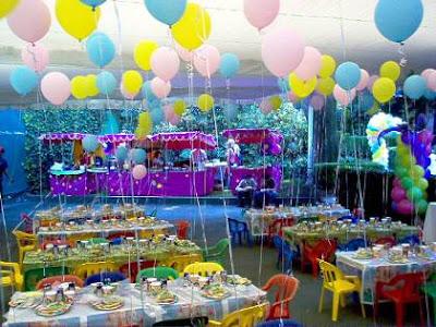 Dulces pasteles y celebraciones decoraci n de fiesta de cumplea os para ni os - Decoracion fiestas infantiles para ninos ...