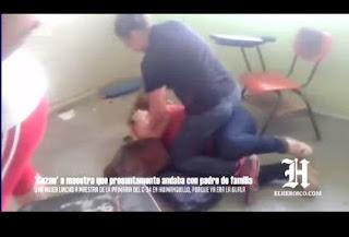 Jeva se lanzo' contra maestra por coje MACHO frente a todos los alumnos