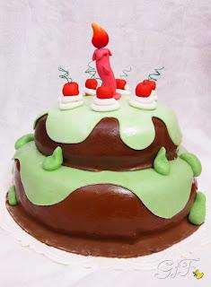 pasta di zucchero torta cartoon