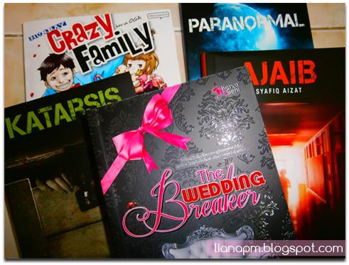Katarsis FIXI, Paranormal FIXI, Ajaib FIXI, The Wedding Breaker, Komik Crazy Family, Novel Evelyn Rose, Komik Oga