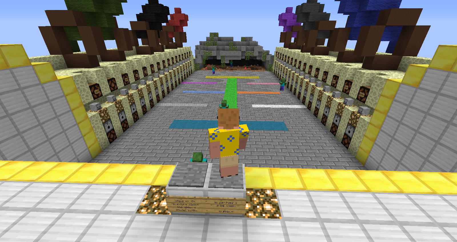 Maps] Minecraft Blocks vs Zombies Map 1.6.2