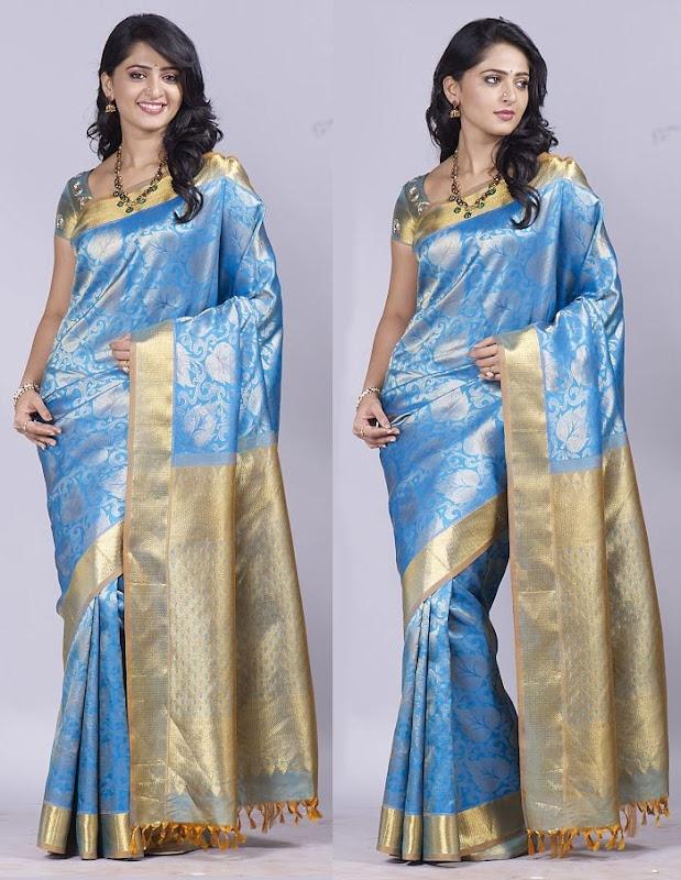 Anushka at Chennai Silks Photoshoot Photoshoot images