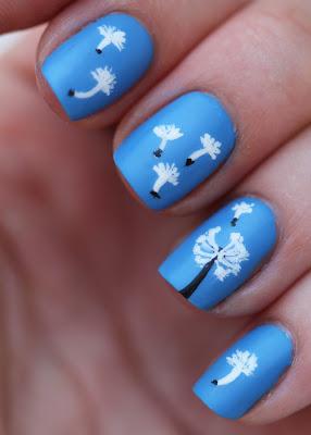 Dandelion nail art matte