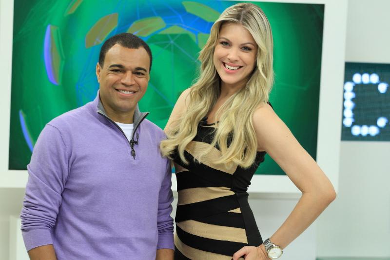 """Denilson e Renata Fan no """"Jogo Aberto"""" - Divulgação/Band"""