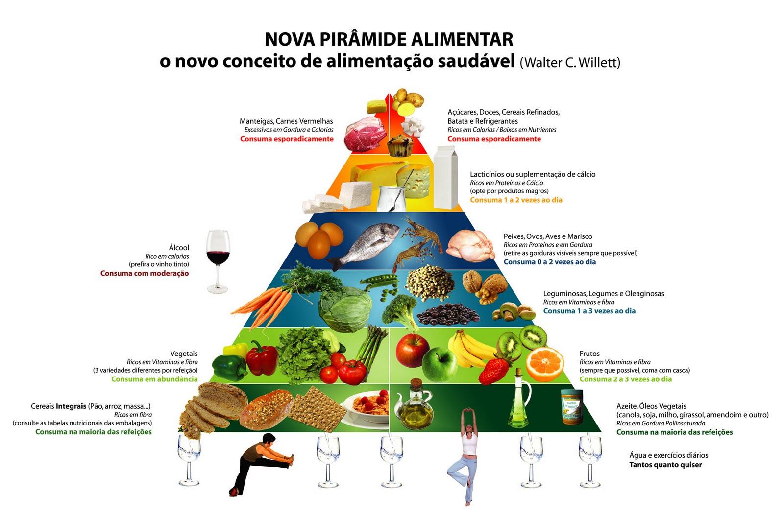 Nutrição Com Nutricionista Nova Piramide Alimentar O Novo Conceito