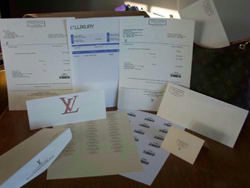 LV Templates Eluxury Receipts - Ms word invoice template free download louis vuitton online store