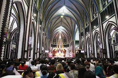 Christmas Eve 2015 Celebration at Saint Mary Cathedral in Yangon, Myanmar