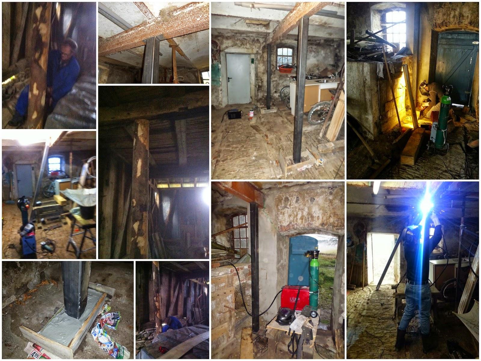 Bouwval gezocht en gevonden inmiddels is het traditie het mannenweekend - Opruimen houten balk ...