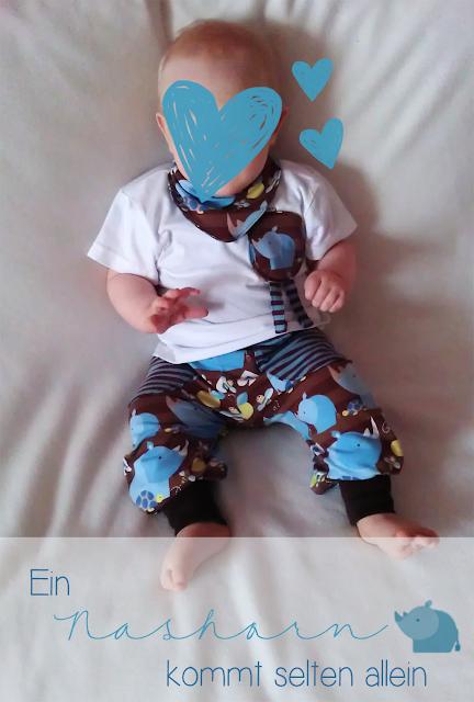 Pumphose Frida, Nichts-Ganzes-Nichts-Halbes-Mütze und Babyshalstuch