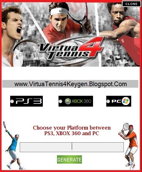 Virtua tennis 4 keygen