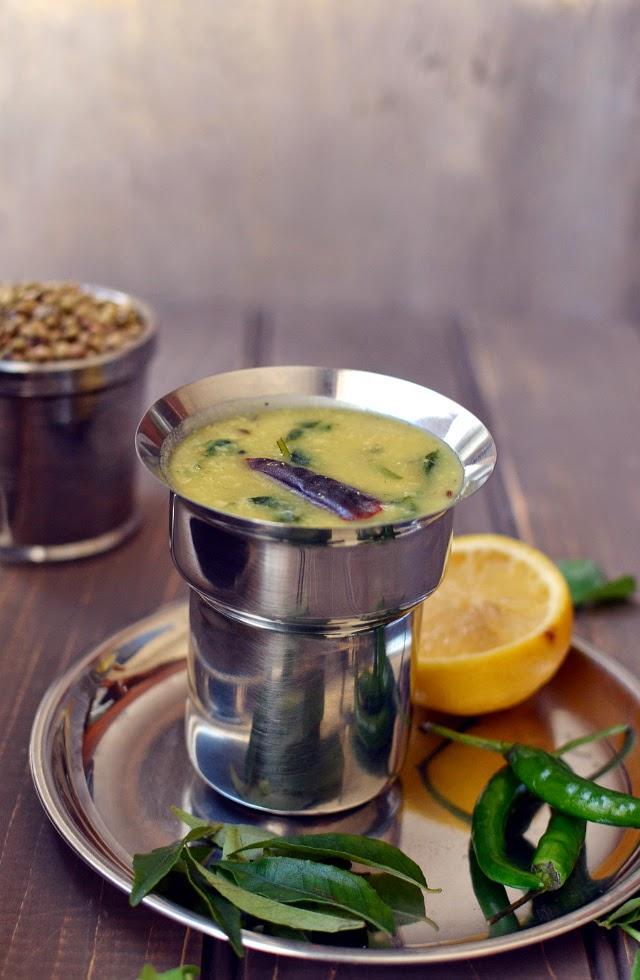 Menthikura-Pesarapappu Chaaru (Methi-Moongdal Soup)