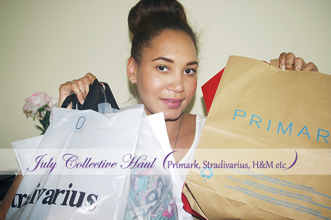 July Collective Haul featuring items from Primark, Stradivarius, H&M, Bershka, Pimkie, Misako and more.
