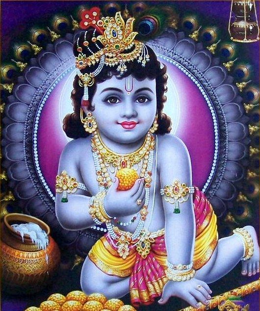 Painting Gopal Deity Black