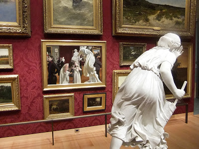 Museum Epiphany iii by Warren Prosperi (2012) Boston Museum of Fine Arts, with surrounding gallery context