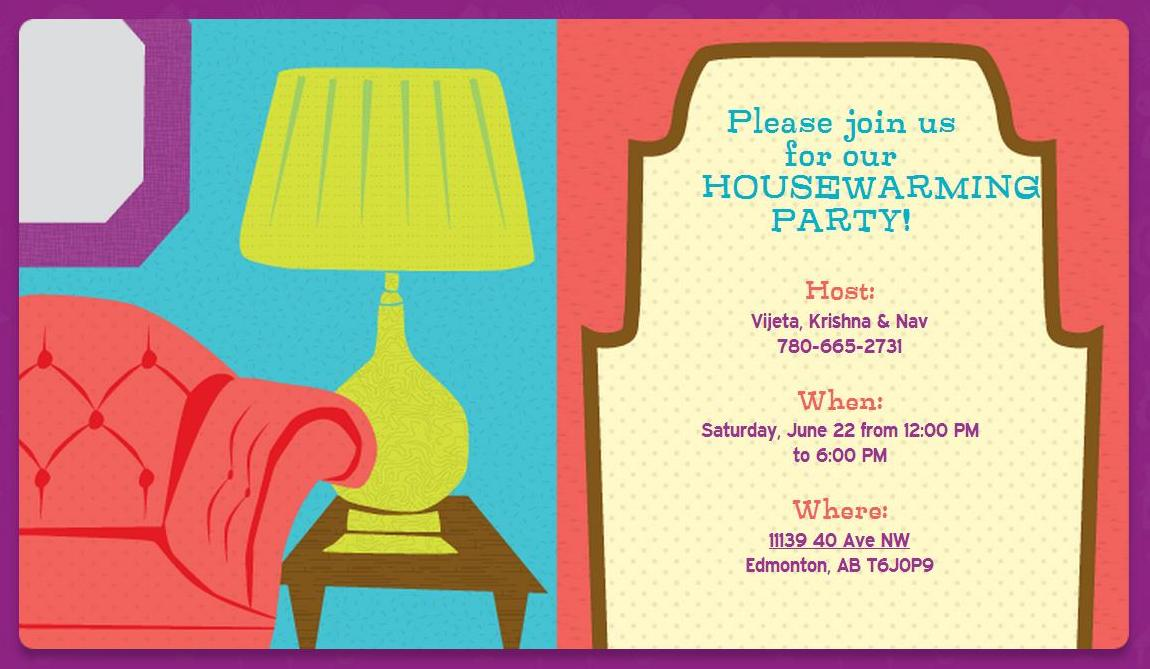 Home Sweet Home – Apartment Warming Party Invitations
