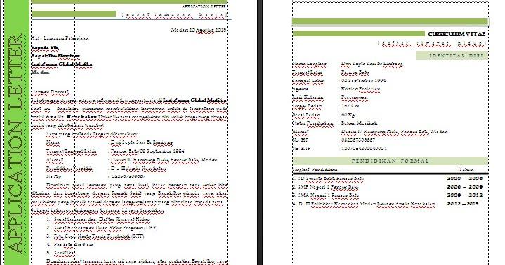 Surat Lamaran Kerja Analisis Kesehatan - Tips Motivasi