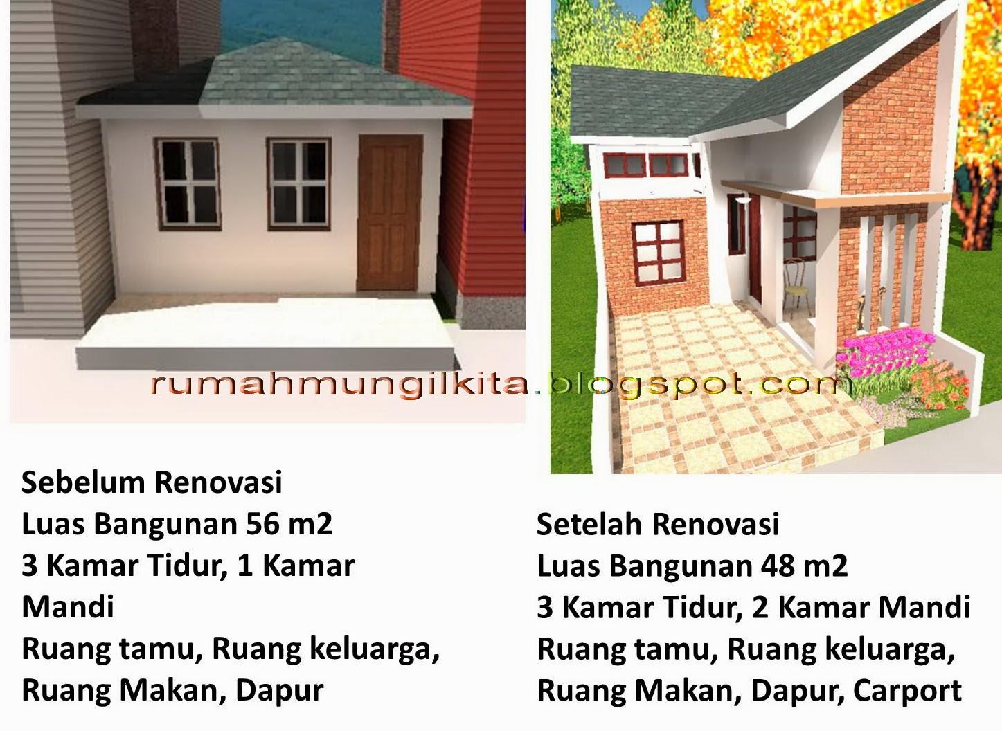 Perbandingan Rumah Sebelum dan Setelah Direnovasi