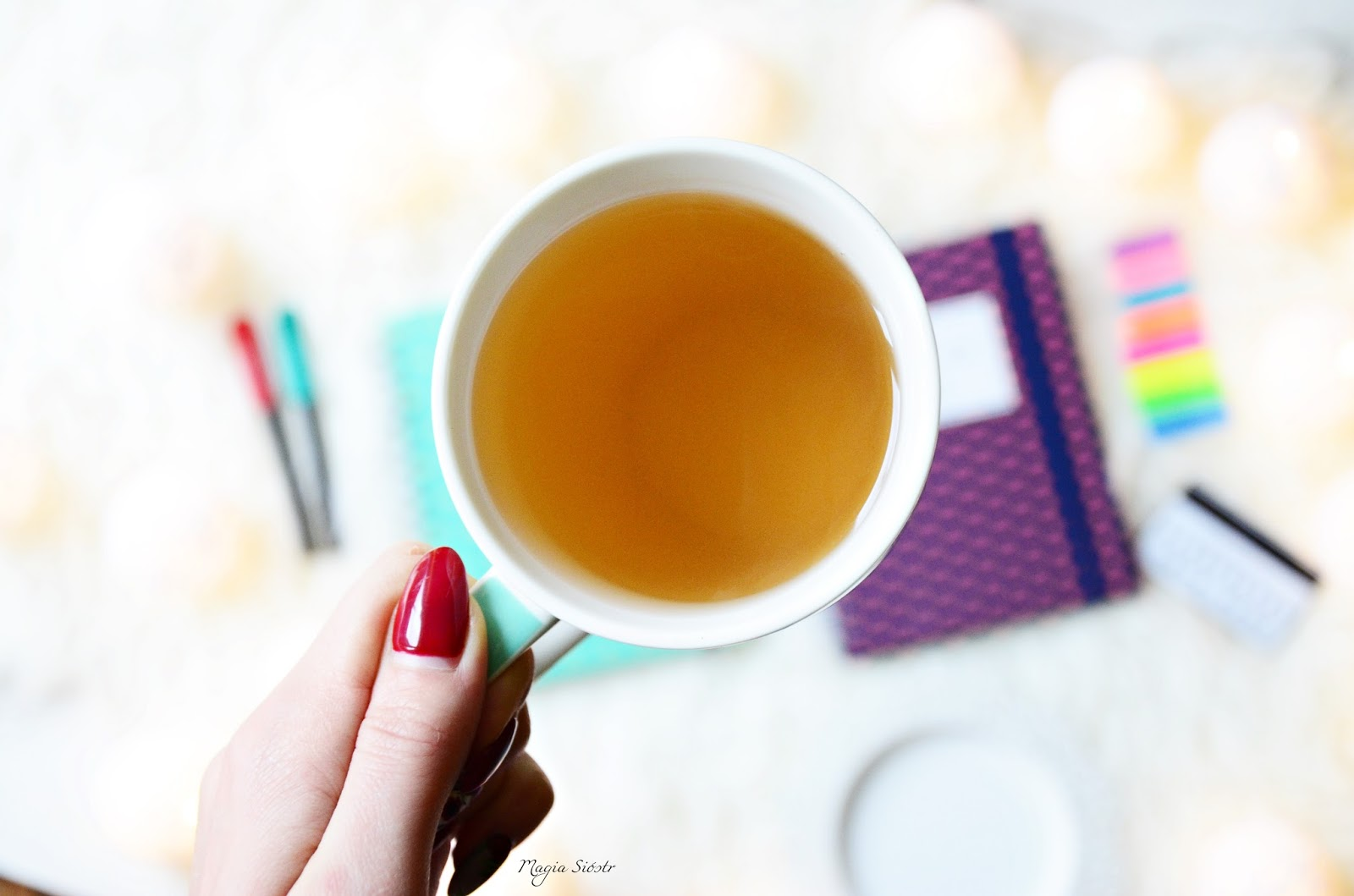 kubek, zielona herbata