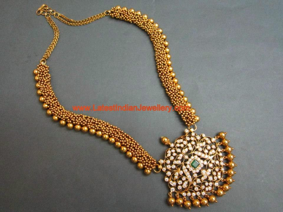 Contemporary Pachi Diamond Gold Haram