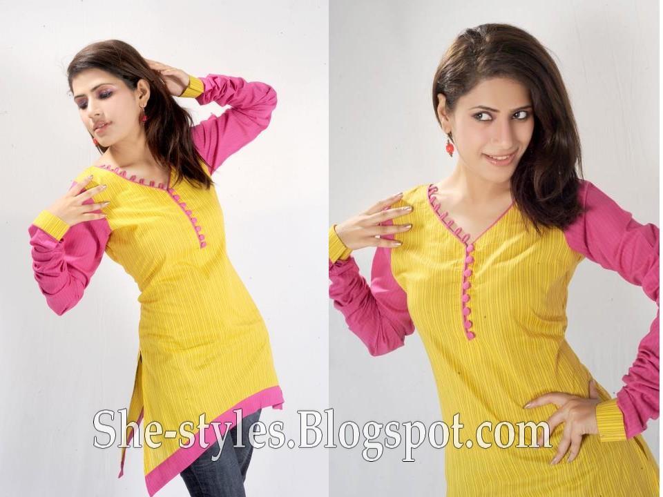 Designer Short Kurti Fashion | Jeans & Kurtis Top 2012-2013 - New ...