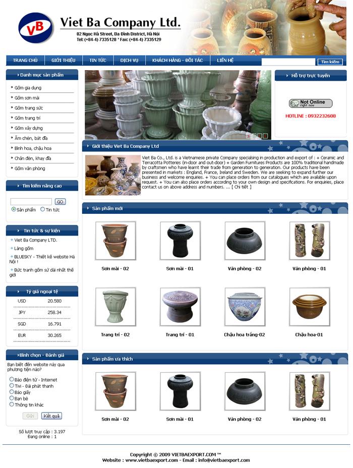 thiết kế web bán hàng thủ công mỹ nghệ