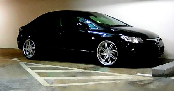 "Honda Civic Rebaixado rodas 20"""