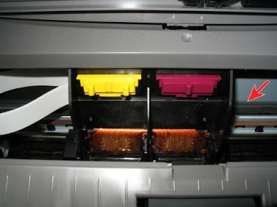 Зона за кареткой принтера