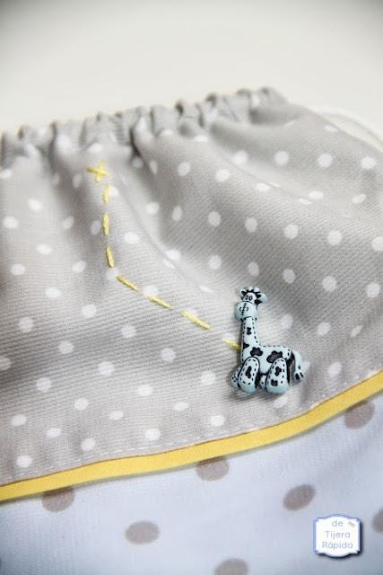 Bolsa mochila para guardería jirafa