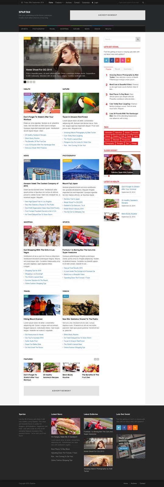 Free News and Magazine WordPress Theme