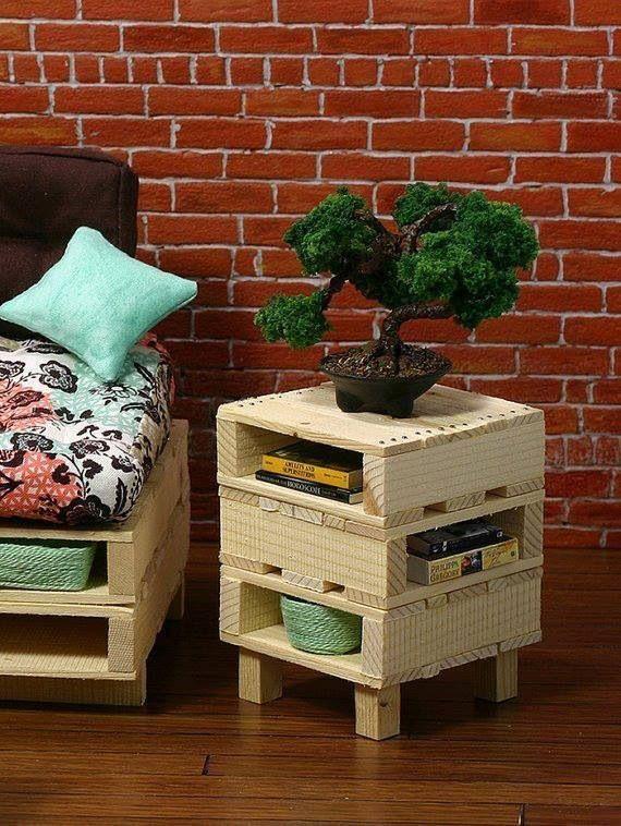 Criado reutilize madeira pallete