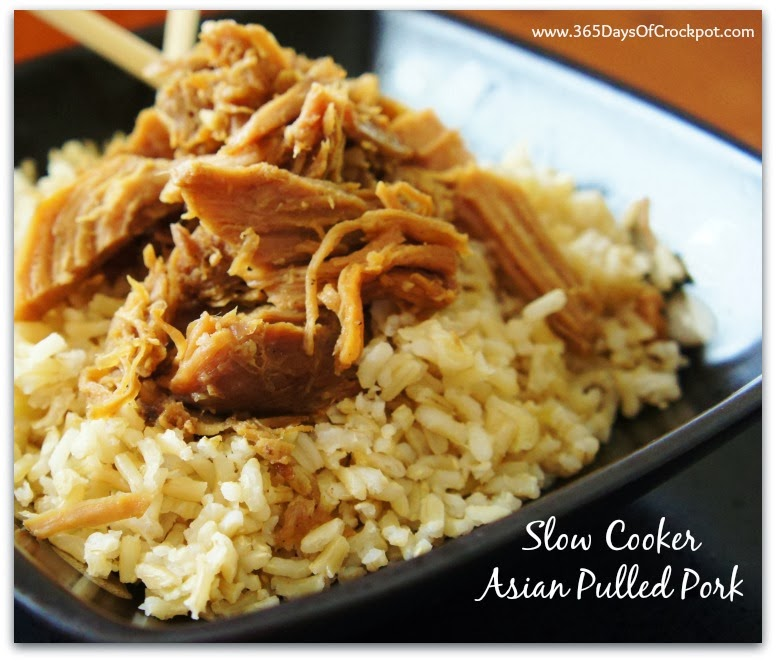 Crockpot Recipe for Pulled Pork...Asian style!  So flavorful and yummy! #pork #crockpot #slowcooker