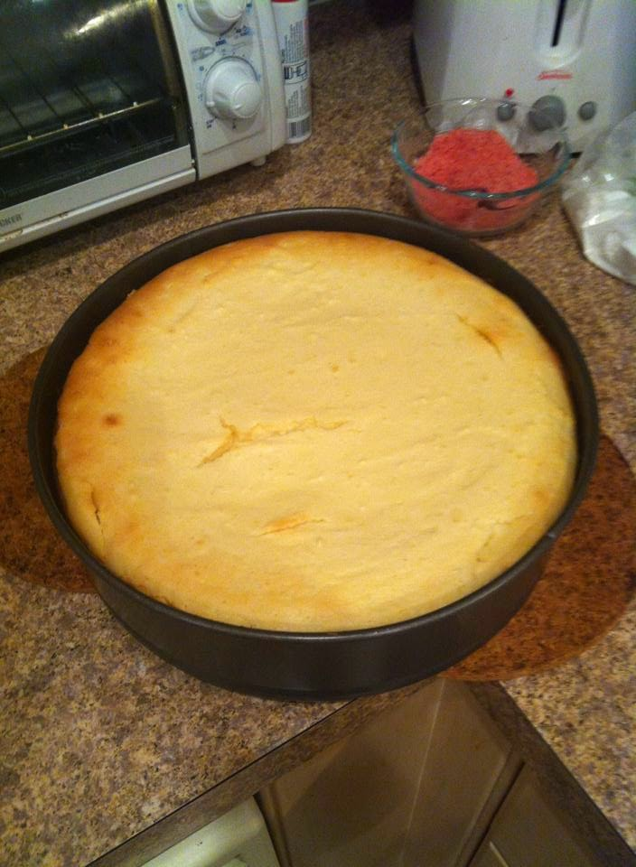 Cheesecake before frosting