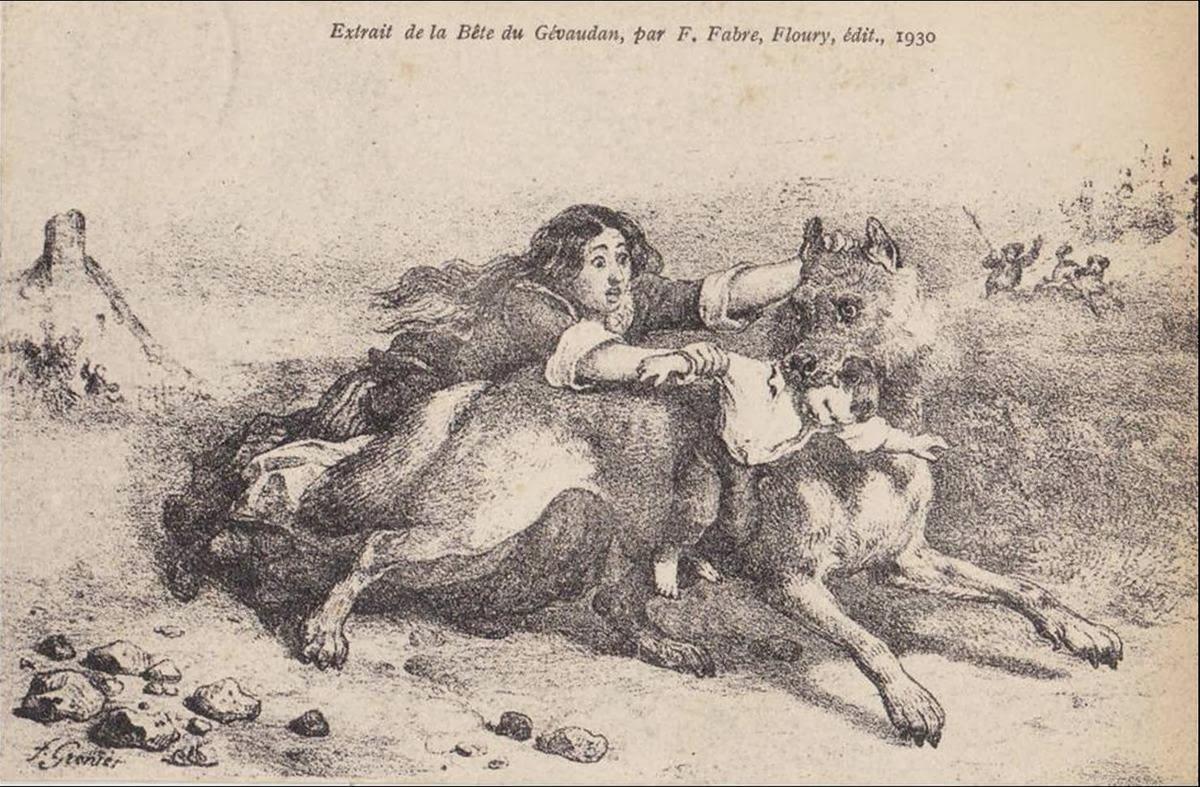 Beast abducts two children