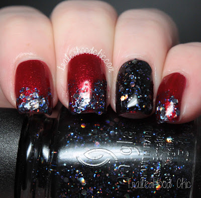 china glaze cheers holiday review swatches coal hands warm heart peppermint to be