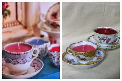 Miss Chaela Boo: Book review: Handmade Gifts Vintage Style - teacup candles