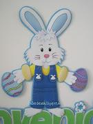 Hoy les voy a compartir el molde de un conejo de pascua. este lo hice para . conejo de pascua