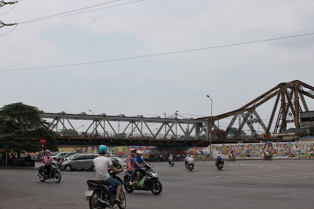 Long Biên Bridge which connects two parts of the city of Hanoi, Vietnam