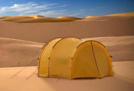 Beginilah penampilan tenda ketika semua bagiannya ditutup rapat