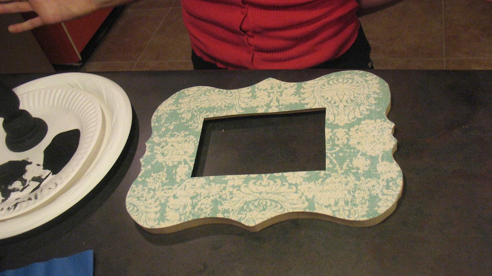 Modge Podge Over Acrylic Paint On Wood