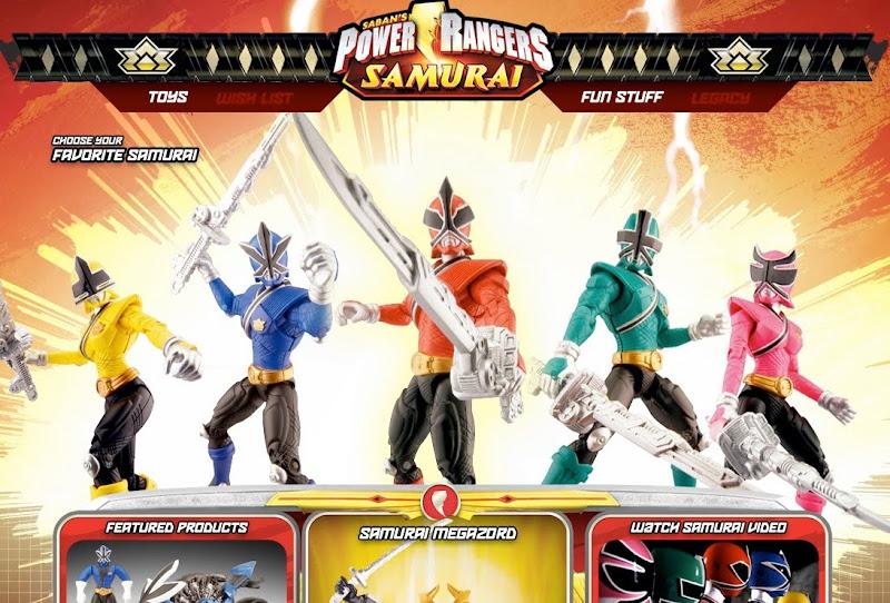 Power Rangers Samurai Bandai America site up title=